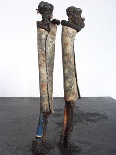 Johan P. Jonsson - The Que I - junk art metal sculptures, at www.byjohan.se