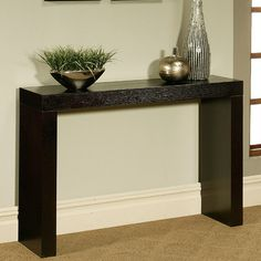 Heritage Console Table by Abbyson Living / $279.95 at Wayfair (reg. $430) / 47W x 31.5H x 12D / Espresson, Pine with birch veneer