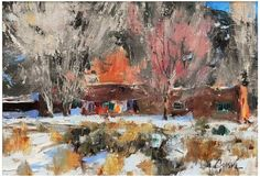 "Walter (Walt) Gonske (American, b. 1942), ""Wash Day"", oil on canvas, signed"