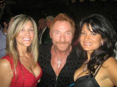 Lisa Caprelli with Danny Bonaduce and Stephanie Beck at a 97.1 FREE FM media party in Los Angeles California
