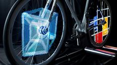 Monkey Light Pro system allows bicycle wheels to light up and animate into specific designs when moving