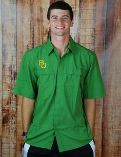 #Baylor Fishing Shirt for game days, by Barefoot Campus