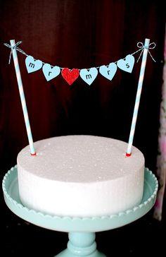 @Marianne Glass Sawyer Wedding cake bunting