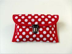 Schminktäschchen -  Etui UniversaltascheTasche Täschchen Rockabella  - ein Designerstück von filzz-und-co bei DaWanda