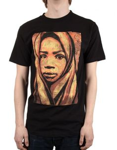20b59a749ec001 Buy Uganda Children Fine Art 2 - Black by Obey Clothing from our Clothing  range - Blacks -   fatbuddhastore