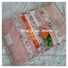 Porta compresas y tampones de patchwork realizado por http://elenaysuslabores.blogspot.com.es/
