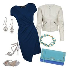 Vestito semplice... mente elegante! Con giacca e scarpe chiari per un colpo di luce...la borsa blu azzurro crea movimento tono su tono che alleggerisce il colore serio del vestito. Adatto per tutti i giornali no per una serata elegante ma non troppo..