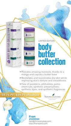 Young Living had an April 2019 Rally and launched several new products that you WON'T want to miss.. Take a look now while supplies last! Body Butter Collection and so much more! OMG