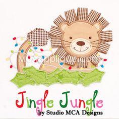 MCA - Jingle Jungle Lion w/ Lights Applique.