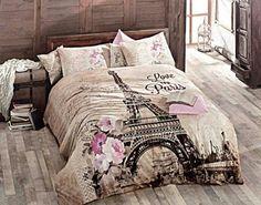 100 Cotton 4pcs Paris in Autumn Double Size Duvet Cover Set Eiffel | Faylamor20 -  on ArtFire