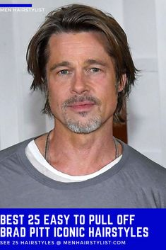 Discover the best easy pull-off Brad Pitt haircut ideas. Choose your favorite hairstyle from classic, faux hawk & more. Jennifer Aniston Divorce, Jennifer Aniston Wedding, Brad Pitt Jennifer Aniston, Brad Pitt And Jennifer, Man Bun Hairstyles, Hairstyle Ideas, Men's Hairstyle, Brad Pitt Hairstyles, Brad Pitt Fury