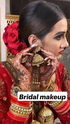 Bridal Makeup Videos, Bridal Makeup Images, Best Bridal Makeup, Bridal Makeup Looks, Indian Bridal Makeup, Bride Makeup, Bridal Looks, Wedding Makeup, Indian Bridal Photos