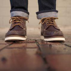 Oak Street Bootmakers | Brown Vibram Sole Camp Boot - Footwear. always been a fan!