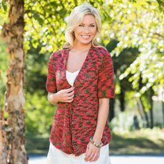 Premier Yarns Deborah Norville Hipster Drape Front Cardigan  #knit #pattern