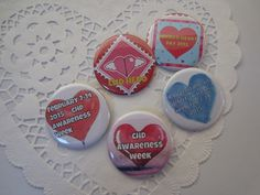 Spread the awareness!  https://www.etsy.com/listing/217698318/five-chd-awareness-buttons