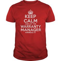 WARRANTY MANAGER T-Shirts, Hoodies. CHECK PRICE ==► https://www.sunfrog.com/LifeStyle/WARRANTY-MANAGER-114698507-Red-Guys.html?id=41382