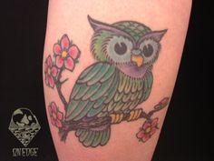 little owl tattoo by Mark
