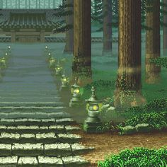 Cool Pixel Art, Cool Art, Aesthetic Gif, Aesthetic Wallpapers, Gifs, Fantasy Landscape, Fantasy Art, Arte 8 Bits, Pix Art