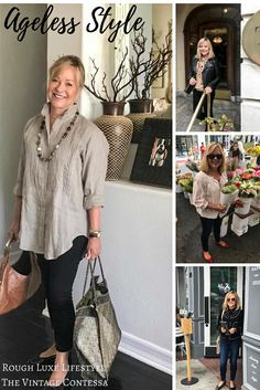 """Welcome to the third installment of our Ageless Style Series. Each month Elizabeth (the Vintage Contessa) and I interview a stylish woman over 50. You can check out Elizabeth's post here. I am happy to say this month I am featuring my friend Mary Ann Pickett; the quintessential """"girl next door"""". Mary Ann of Classic Casual Home and I connected through blogging. When they relocated to San Francisco, we met at the Design Center and became fast friends. Mary Ann has a refreshing """"classic…"""