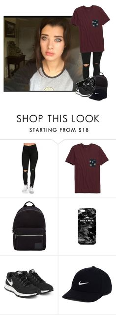 """""""- explores the school -"""" by the-infinite-anons ❤ liked on Polyvore featuring Rip Curl, PS Paul Smith, Mr. Gugu & Miss Go, NIKE and Ray-Ban"""