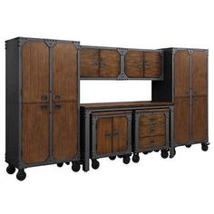 Hope the smaller under counter units havent been discontinued. Whalen 7-piece Workbench and Cabinet Set
