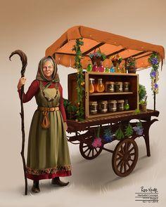 """ArtStation - """"Mandragora"""" Herbalist Concept, Ros Kovac"""