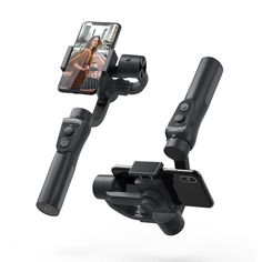 """BlitzWolf® BW-BS14 bluetooth 3-Axis Gimbal Stabilizer With Three Adjustable Modes  Features:  Three Adjustable Modes AF / Following Mode, HF / Pan Following Mode, LF / Locking Mode Auto Face & Object Tracking Zoom Control 4000mAh high capacity battery gives you 12 working hours. Horizontal & Vertical Phone Clamp Universal 1/4"""" screw fits all standard tripods and monopods. Mobile Phone Sale, Phone Tripod, Blitz, Electronics Gadgets, Stability, Bluetooth, Electronic Devices, Tech Gadgets"""