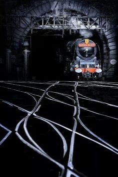train in the nightlight