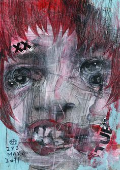 """Takahiro Kimura - Madness - The project broken faces"""". Contemporary Portrait Artists, Tokyo, Collage Artists, Collages, Abstract Portrait, Abstract Art, Portraits, Portrait Illustration, Portrait Inspiration"""