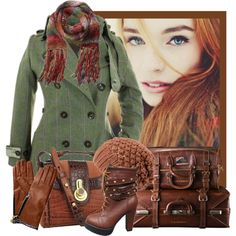 """I can't wear the high heeled boots, but the rest of this is just so beautiful for fall!  """"Travel Day"""" by jackie22 on Polyvore"""