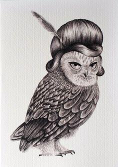 'Cranky Owl' by Jenny Zhao of Panicx