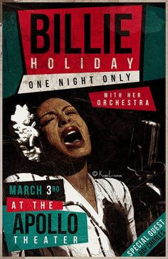 Billie Holiday - One Night Only at the Apollo - Mini Print