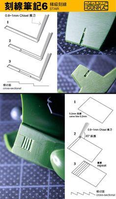 Gunpla Technique on using chisel Modeling Techniques, Modeling Tips, Plastic Model Kits, Plastic Models, Gundam Tutorial, Futuristic Robot, Gundam Mobile Suit, Gundam Custom Build, Frame Arms