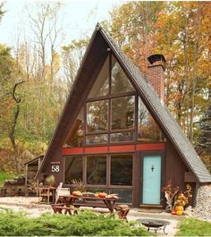 A-FRAME! Julia's home in New Hampshire. 9/1/2012 via @Apartment Therapy