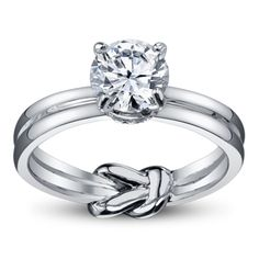 Absolutely my style! - A. Jaffe 14K White Gold Diamond Engagement Ring Setting