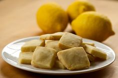 This sugar-free recipe for Lemon Shortbread puts a zingy twist on a classic favorite. Lots of great recipes from I quit sugar site! Sugar Free Treats, Sugar Free Desserts, Sugar Free Recipes, Lemon Recipes, Lemon Shortbread Cookies, Shortbread Recipes, Cookie Recipes, Dessert Recipes, Pudding Recipes