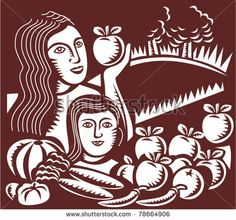 Buy Mother And Child Holding Apple With Harvest by patrimonio on GraphicRiver. Vector illustration of a mother and child in an organic orchard farm holding an apple with crop harvest done in retro. Apple Illustration, Graphic Illustration, Vector Illustrations, Vector Graphics, Vector Art, Farm Logo, Material Design Background, Mother And Child, Design Bundles
