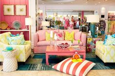 Lilly Pulitzer living area