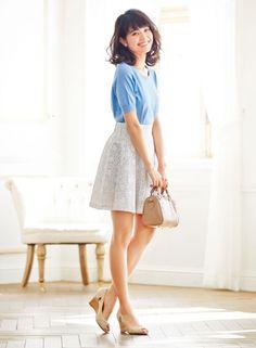 肌なじみのいいヌーディーカラー&ウエッジでスタイル美人 | ファッション コーディネート | with online on ウーマンエキサイト
