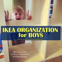 IKEA Boys Room Organization for the bedroom - including clothing and building sets.