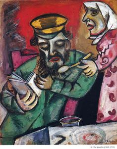 The Spoonful of Milk by Marc Chagall Medium: oil on canvas