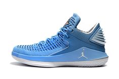 249a644a480915 2018 Genuine Air Jordan 32 Low UNC University Blue College Navy-White AA1253 -406 · White Basketball ShoesNike ...