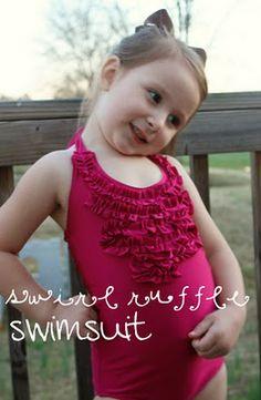 Swirl Ruffle Swimsuit {Tutorial}