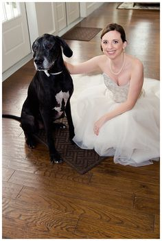 Bride and her dog at The Milestone Denton by brittanybarclay.com