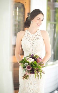 947 Boho Wedding Gown with Graphic Lace by Martina Liana