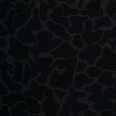 Black/Gray/Navy Animalistic Wool Woven