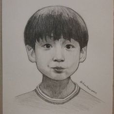Kookie❤ what a cutie Kpop Drawings, Art Drawings Sketches, Disney Drawings, Jungkook Fanart, Kpop Fanart, Learn To Sketch, Chinese Drawings, Bts Pictures, Photos