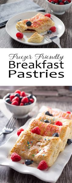 Easy Breakfast Pastries - These breakfast treats are easy to make-ahead, and they store in the freezer until you need them!
