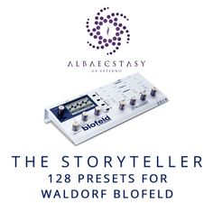 128 presets for WALDORF BLOFELD synthesizer.  This sound pack does not require the SL License. The presets are separate (128 files) in *.sysex format.  http://www.albaecstasy.ro/waldorf-blofeld/