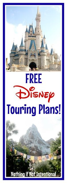 Free Sample Touring Plans For Disney